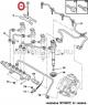 Болт крепления фиксатора форсунок двигателя 2.2 Puma Фиат Дукато 250 Пежо Боксер 3 Джампер III