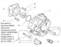 Болт (винт) с буртиком M8X30 крепления топливного насоса 1982C1 (9658912080) Fiat Ducato 3, Peugeot Boxer 3, Citroen Jumper 3 дв.2.2 с 2006г