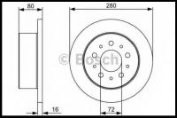 Диск тормозной задний R15 (Q11-Q15) Фиат Дукато 250 Пежо Боксер 3 Ситроен Джампер III