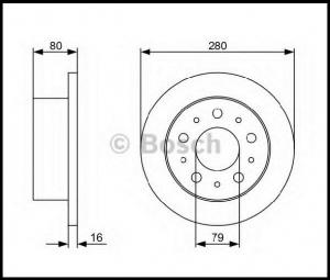 Диск тормозной задний R16 Q16 Пежо Боксер 3 Ситроен Джампер III Фиат Дукато 250
