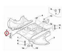 Гайка ответная на болт винт крепления пластиковой защиты картера двигателя Пежо Боксер 3 Ситроен Джампер III Фиат Дукато 250