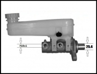 Цилиндр тормозной главный Q12/Q14 без ESP Фиат Дукато 250 Пежо Боксер 3 Ситроен Джампер III