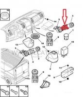 Гнездо прикуривателя Пежо Боксер 3 Фиат Дукато 250 Ситроен Джампер III
