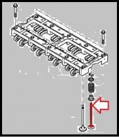Клапан выпускной двигателя 2.2 Puma Фиат Дукато 250 Пежо Боксер 3 Ситроен Джампер III