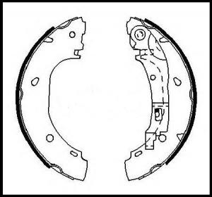 Колодки тормозные задние (барабан) Фиат Дукато 244 Елабуга