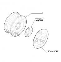 Колпак колёсного диска R16 Фиат Дукато 244 Елабуга
