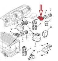 Кольцо подсветки прикуривателя Пежо Боксер 3 Фиат Дукато 250 Ситроен Джампер III