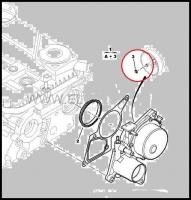 Кольцо уплотнительное штока вакуумного насоса двигателя 2.2 Puma Фиат Дукато 250 Пежо Боксер 3 Ситроен Джампер III