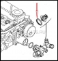 Кольцо уплотнительное термостата Пежо Боксер 3 Ситроен Джампер III (Фиат Дукато 250 дв.2.2)