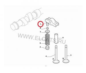 Коромысло клапана (рокер) в сборе с гидрокомпенсатором Фиат Дукато  2.3/3.0