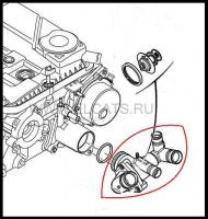 Корпус термостата двигателя Евро 4 2.2 Puma Фиат Дукато 250 Пежо Боксер 3 Ситроен Джампер III