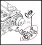 Термостат с корпусом (Евро 4) Пежо Боксер 3 Ситроен Джампер III