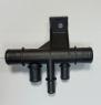 Пластиковый пятерник соединения патрубков охлаждения Пежо Боксер 3 Ситроен Джампер (нижний патрубок радиатора, расширительный бачок, термостат...)