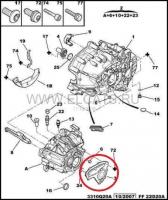 Крышка задняя корпуса КПП Пежо Боксер 3/Ситроен Джампер III/Фиат Дукато 250