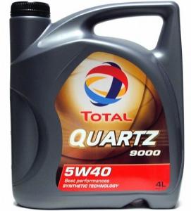 Моторное масло TOTAL QUARTZ 9000 5W40 (4L) синтетическое
