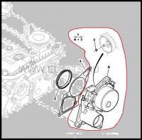Насос вакуумный двигателя 2.2 Puma Пежо Боксер 3 Ситроен Джампер III