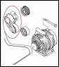 Натяжитель ремня генератора с роликом 2.2 Puma Фиат Дукато 250 Пежо Боксер 3 Ситроен Джампер III с кондиционером