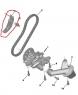 Натяжитель цепи масляного насоса Пежо Боксер 3 Ситроен Джампер III 2.2 Puma