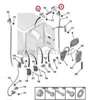 Ответная часть замка задней двери верхняя Пежо Боксер 3, Фиат Дукато 250, Ситроен Джампер III