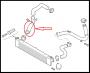 Патрубок резиновый интеркулера (от радиатора) без металлической части оригинального патрубка 0382LK системы охлаждения турбины двигателя 2.2 Puma Фиат Дукато 250 Пежо Боксер 3 Ситроен Джампер III