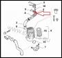Патрубок (турбина-в.фильтр) 2.3 с 2011г Фиат Дукато 250