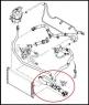 Патрубок радиатора нижний Пежо Боксер 3 Ситроен Джампер III Фиат Дукато 250