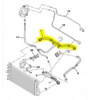 Патрубок радиатора верхний Евро 5 Пежо Боксер 3 Ситроен Джампер III