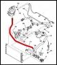Патрубок (трубка) расширительного бачка Пежо Боксер 3 Ситроен Джампер III Фиат Дуато 250