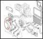 Патрубок (шланг) от радиатора печки Фиат Дукато 250 Пежо Боксер 3 Ситроен Джампер III