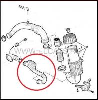 Патрубок воздушного фильтра (воздуховод/воздушный рукав) Фиат Дукато 250 Пежо Боксер 3 Ситроен Джампер III