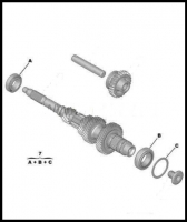 Подшипники первичного вала КПП комплект подшипников Фиат Дукато 250 Пежо Боксер 3 Ситроен Джампер (шестиступка)
