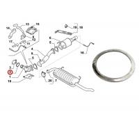 Прокладка глушителя (катализатор-турбина) Евро 5 (130) Пежо Боксер 3 Ситроен Джампер III Фиат Дукато 250