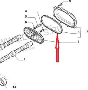 Прокладка крышки цепи распредвалов Фиат Дукато 2.3
