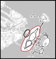 Прокладка вакуумного насоса (передней крышки) двигателя 2.2 Puma Фиат Дукато 250 Пежо Боксер 3 Ситроен Джампер III
