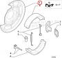 Защитный кожух дискового тормоза (пыльник) задний левый Пежо Боксер 3 Ситроен Джампер III Фиат Дукато 250