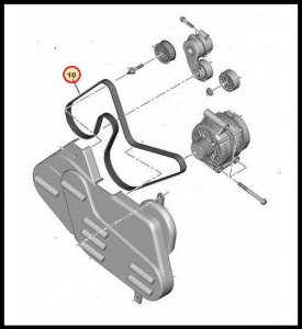 Ремень генератора приводной (+AС евро 4) 2.2 Puma Фиат Дукато 250, Пежо Боксер 3, Ситроен Джампер III