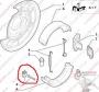 Фиксаторы тормозных колодок ручника Пежо Боксер 3 Ситроен Джампер III Фиат Дукато 250 (ремкомплект=2солдатика+2скобки)