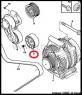 Ролик приводного ремня генератора (обводной) Пежо Боксер 3 Ситроен Джампер III