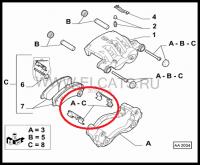Скоба-фиксатор Q20 передних тормозных колодок Пежо Боксер 3 Фиат Дукато 250 Ситроен Джампер III