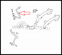 Патрубок (трубка) системы ожлаждения Фиат Дукато дв.2.3