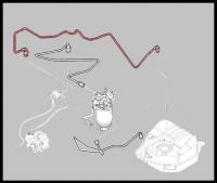 Трубка топливная обратка (тнвд-бак) MLGU Фиат Дукато 2.3 Rus 244 Елабуга
