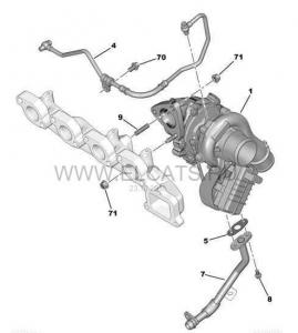 Трубка турбины (подача масла) Евро 5 Пежо Боксер 3 Ситроен Джампер III дв.2.2