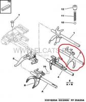Вилка выбора 3-4 передачи Пежо Боксер 3 Ситроен Джампер III Фиат Дукато 250 коробка 6-ступка