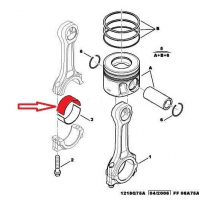 Вкладыш шатунный верхний (стандарт) 2.2 Пежо Боксер 3 Ситроен Джампер III