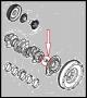 Втулка центрирующая первичный вал в коленвале двигателя 2.2 Puma Фиат Дукато 250 Пежо Боксер 3 Ситроен Джампер III