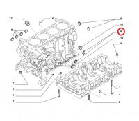 Заглушка 28мм в блоке цилиндров двигателя 2.3 Фиат Дукато