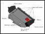 Защита картера двигателя и кпп металлическая Фиат Дукато 244/Елабуга Боксер II Джампер II