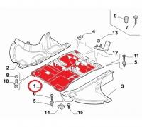 Защита центр (пыльник) картера двигателя Пежо Боксер 3 Ситроен Джампер III Фиат Дукато 250